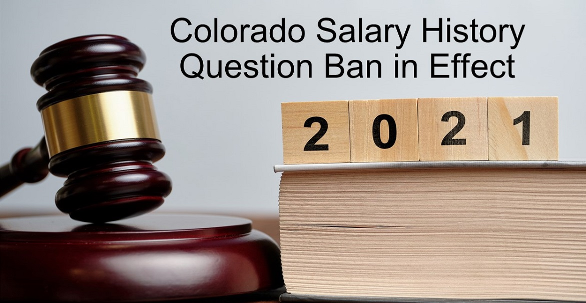 Colorado Salary History Ban 2021