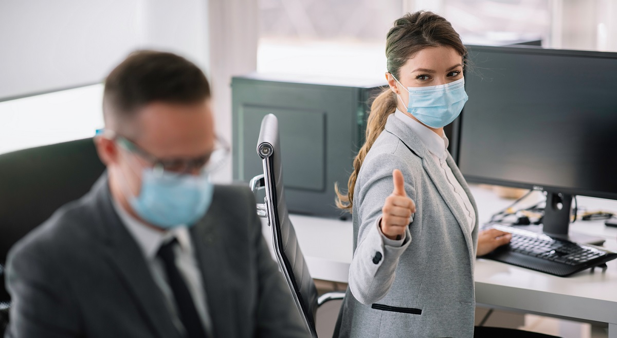 business people with masks on-1